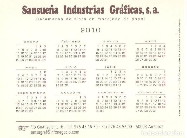 Coleccionismo Calendarios: Lote de 3 Postales Calendario de 2010 - Gráficas Sansueña Zaragoza. EX - Foto 3 - 176073622