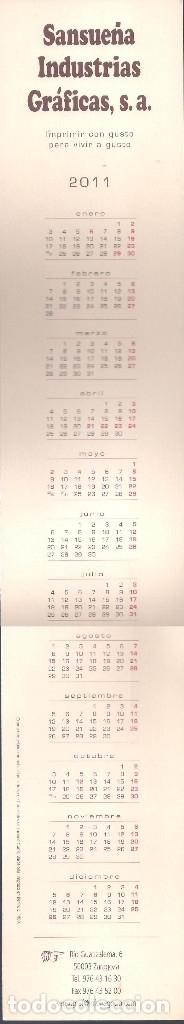 Coleccionismo Calendarios: Lote de 3 Postales Calendario de 2011 - Gráficas Sansueña Zaragoza. EX - Foto 3 - 176081085