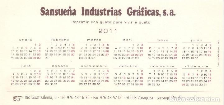 Coleccionismo Calendarios: Lote de 3 Postales Calendario de 2011 - Gráficas Sansueña Zaragoza. EX - Foto 5 - 176081085