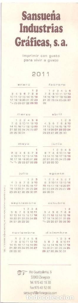 Coleccionismo Calendarios: Lote de 3 Postales Calendario de 2011 - Gráficas Sansueña Zaragoza. EX - Foto 7 - 176081085
