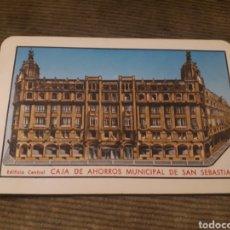 Coleccionismo Calendarios: CALENDARIO DE BOLSILLO H FOURNIER CAJA DE AHORROS MUNICIPAL DE SAN SEBASTIÁN 1972. Lote 176085527