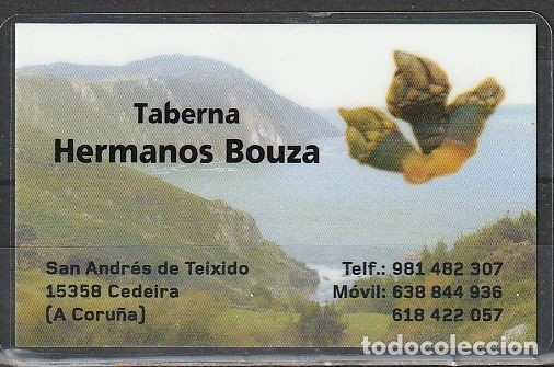 CALENDARIO BOLSILLO PLASTIFICADO TABERNA HNOS. BOUZA 2017 POCKET CALENDAR KALENDER CALENDRIER KALEND (Coleccionismo - Calendarios)