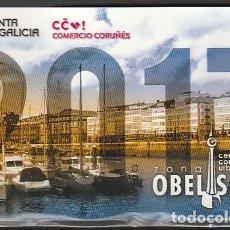 Coleccionismo Calendarios: CALENDARIO BOLSILLO ZONA OBELISCO CORUÑA 2017 POCKET CALENDAR KALENDER CALENDRIER KALENDAR. Lote 176137492