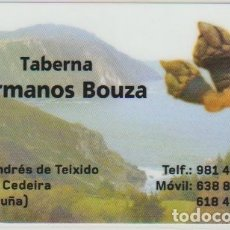 Coleccionismo Calendarios: CALENDARIO BOLSILLO TABERNA HERMANOS BOUZA 2017 SAN ANDRES TEIXIDO PLASTIFICADO POCKET CALENDAR KALE. Lote 176137528