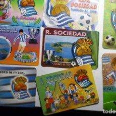 Coleccionismo Calendarios: LOTE CALENDARIOS FUTBOL DIF,AÑOS REAL SOCIEDAD. Lote 176411745