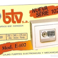 Coleccionismo Calendarios: CALENDARIO BTV 1992. Lote 176475169