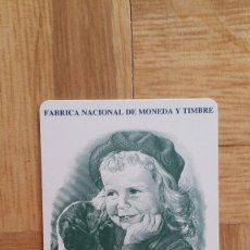 Coleccionismo Calendarios: CALENDARIO NO FOURNIER - FÁBRICA NACIONAL MONEDA Y TIMBRE - FNMT - AÑO 1994 - NUEVO - VER FOTO ADIC. Lote 176868849