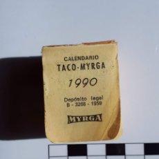 Coleccionismo Calendarios: MINI TACO CALENDARIO MYRGA 1990 - SIN USAR. Lote 177044207