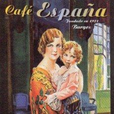 Coleccionismo Calendarios: CALENDARIO DE PUBLICIDAD 2014 CAFÉ ESPAÑA - BURGOS. Lote 195063293