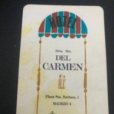 Coleccionismo Calendarios: CALENDARIO FOURNIER. HOTEL DEL CARMEN. 1966. Lote 177306615