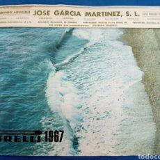 Coleccionismo Calendarios: PIRELLI 1967 CALENDARIO PARED COMPLETO. Lote 177504994