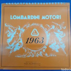 Coleccionismo Calendarios: LOMBARDINI MOTORI , CALENDARIO DE PARED 1963. Lote 177507338