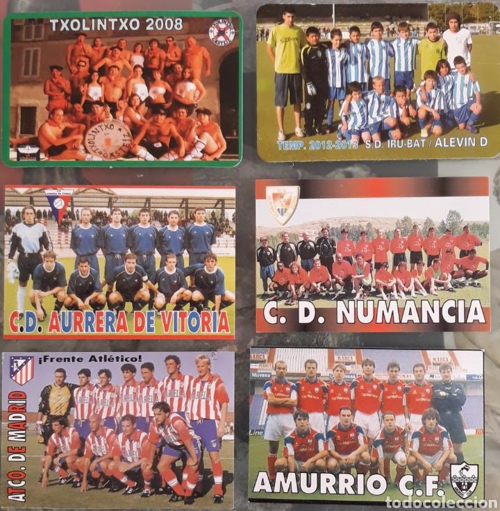 LOTE 6 CALENDARIOS EQUIPOS DE FUTBOL (Coleccionismo - Calendarios)