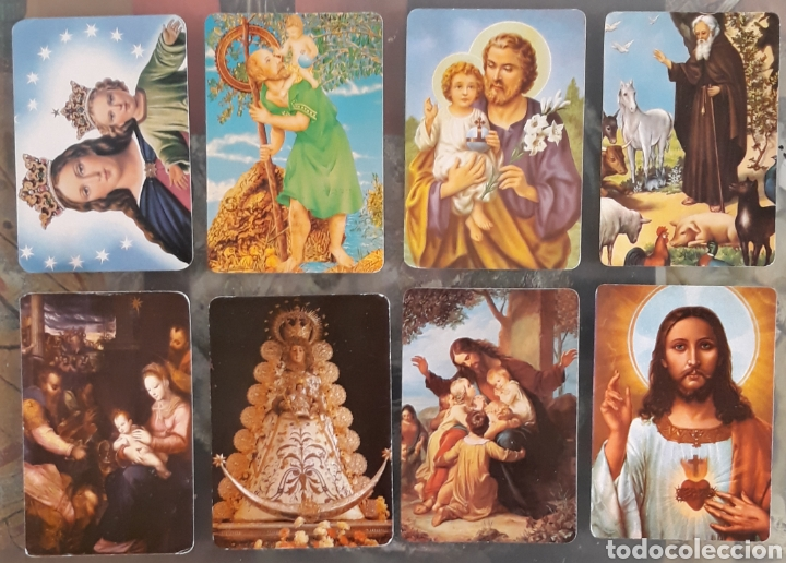 LOTE 8 CALENDARIOS RELIGIOSOS (Coleccionismo - Calendarios)