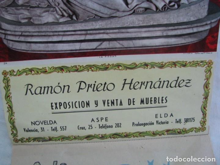 Coleccionismo Calendarios: ASPE-ELDA-NOVELDA. Calendario 1966, exposición y venta de muebles RAMON PRIETO HERNANDEZ - Foto 4 - 177628722