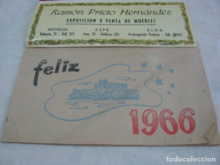 Coleccionismo Calendarios: ASPE-ELDA-NOVELDA. Calendario 1966, exposición y venta de muebles RAMON PRIETO HERNANDEZ - Foto 5 - 177628722