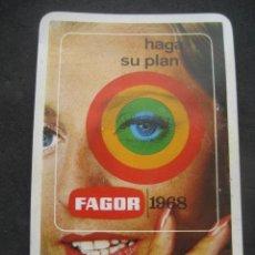 Coleccionismo Calendarios: CALENDARIO FOURNIER. ELECTRODOMESTICOS FAGOR 1968. Lote 177640132