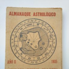 Coleccionismo Calendarios: RARO: ALMANAQUE ASTROLÓGICO, AÑO 1935 - ASTROLOGÍA, CIENCIAS, OCULTISMO. Lote 177735345