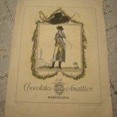 Coleccionismo Calendarios: CHOCOLATES AMATLLER. CALENDARIO AÑO 1929. COMPLETO EN BUEN ESTADO VER FOTOS. Lote 177754925