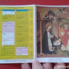 Coleccionismo Calendarios: CALENDARIO DE BOLSILLO DÍPTICO RELIGIOSO RELIGIÓN DEL AÑO LITÚRGICO 1997 LA NATIVIDAD DEL SEÑOR VER . Lote 178016882