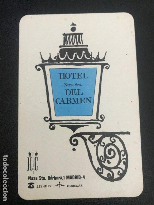 CALENDARIO FOURNIER. HOTEL NTRA. SRA. DEL CARMEN. MADRID. 1969 (Coleccionismo - Calendarios)