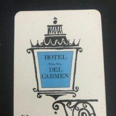 Coleccionismo Calendarios: CALENDARIO FOURNIER. HOTEL NTRA. SRA. DEL CARMEN. MADRID. 1969. Lote 178050553