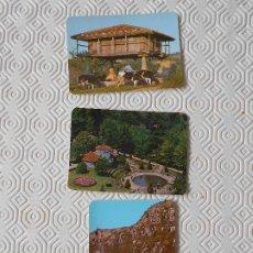 Coleccionismo Calendarios: RESTAURANTE LA CAMPANA, OVIEDO. LOTE DE 3 CALENDARIOS DE BOLSILLO CON FOTOGRAFIAS DE ASTURIAS. EDICI. Lote 178265055
