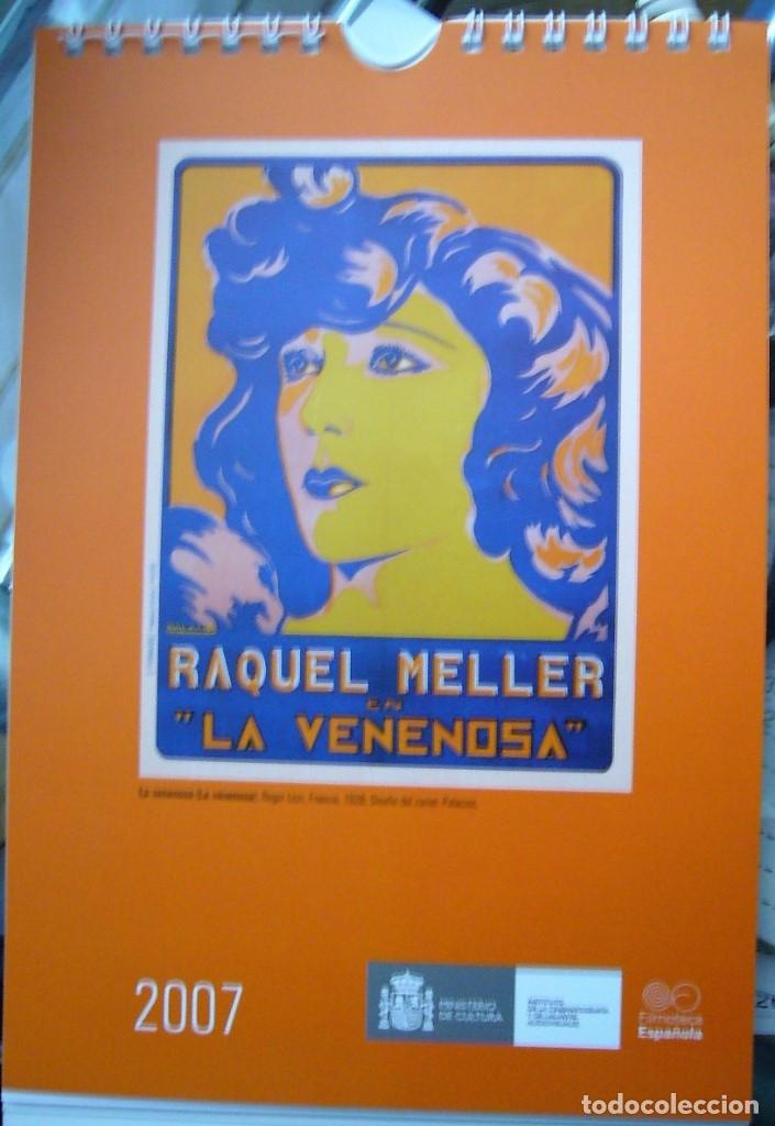 CALENDARIO DE MESA 2007 CON REPRODUCCIONES DE CARTELES DE CINE ANTIGÜOS (Coleccionismo - Calendarios)