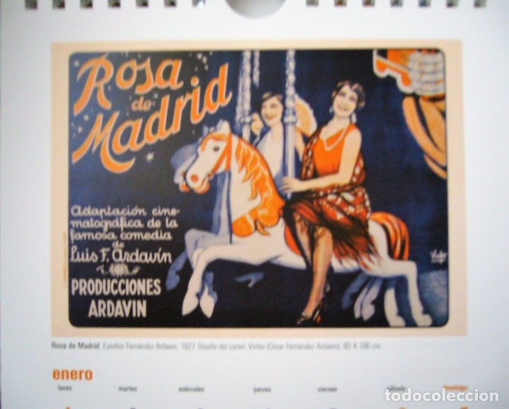 Coleccionismo Calendarios: CALENDARIO DE MESA 2007 CON REPRODUCCIONES DE CARTELES DE CINE ANTIGÜOS - Foto 3 - 178367896