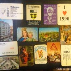 Coleccionismo Calendarios: LOTE DE 14 ANTIGUOS CALENDARIOS VARIADOS, AÑOS 80-90 ,VER FOTOS. Lote 178565915