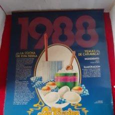 Coleccionismo Calendarios: CALENDARIO ALMANAQUE DE PARED CAJA DE AHORROS ALICANTE MURCIA LA COCINA ESTA TIERRA 1988. Lote 178809473