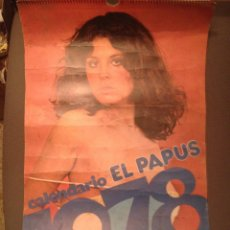 Coleccionismo Calendarios: CALENDARIO EL PAPUS 1978 EROTICO COMPLETO TRANSICION. Lote 178857308