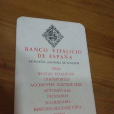 Coleccionismo Calendarios: CALENDARIO 1967 BANCO VITALICIO DE ESPAÑA - A. Lote 178886641