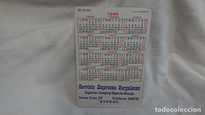 Coleccionismo Calendarios: CALENDARIO NO FOURNIER SERIE CHICA AÑO 1986 - Foto 2 - 178959145