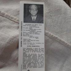 Coleccionismo Calendarios: GENTE LUGO LUIS PIMENTEL CALENDARIO MARCA PAGINAS. Lote 179003211