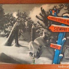 Coleccionismo Calendarios: CALENDARIO AUTOMOVILES FORD MOTOR IBERICA 1952. Lote 179150402