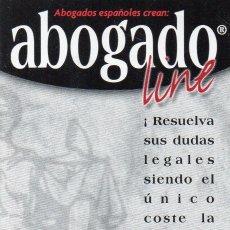 Coleccionismo Calendarios: CALENDARIO DE PUBLICIDAD 2001 ABOGADO LINE. Lote 179188570