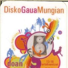Coleccionismo Calendarios: CALENDARIO DE BOLSILLO - 2008 - DISKO GAUA MUNGIAN - MUNGIA. Lote 179546261