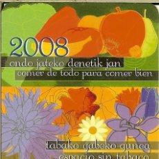 Coleccionismo Calendarios: CALENDARIO DE BOLSILLO - 2008 - GOBIERNO VASCO. Lote 179546835