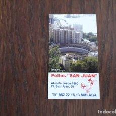 Coleccionismo Calendarios: CALENDARIO DE PUBLICIDAD PLAZA DE TOROS DE MÁLAGA, POLLOS SAN JUAN, MÁLAGA AÑO 2010. Lote 179550146