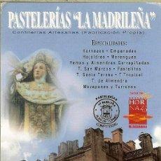 Coleccionismo Calendarios: CALENDARIO DE BOLSILLO - 2008 - PASTELERÍAS LA MADRILEÑA - SALAMANCA. Lote 179550292