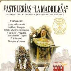 Coleccionismo Calendarios: CALENDARIO DE BOLSILLO - 2008 - PASTELERÍAS LA MADRILEÑA - SALAMANCA. Lote 179550308