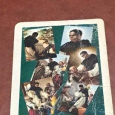 Coleccionismo Calendarios: CALENDARIO BOLSILLO FOURNIER SAN MARTIN DE PORRES AÑO 1962. Lote 179551453