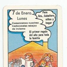 Coleccionismo Calendarios: CALENDARIO FOURNIER 1980 ECOTEX ECOCENTRO. Lote 179555108