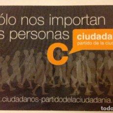 Coleccionismo Calendarios: CALENDARIO DE CIUDADANOS - PARTIDO DE LA CIUDADANÍA [CIUTADANS] 2008. 8,5 X 5, 5 CM.. Lote 179578438