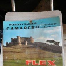 Coleccionismo Calendarios: CALENDARIO DE PARED DE FLEX AÑO 1978-MADERAS CAMARERO PRADOLUENGO BURGOS. Lote 179948976