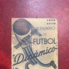 Coleccionismo Calendarios: CALENDARIO DE FÚTBOL DINÁMICO DE 1949-50. Lote 179953577