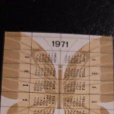 Coleccionismo Calendarios: .1 CALENDARIO DE **. AGROMAN COSTRUCTORA ** AÑO 1971 / 1972 . Lote 180187521