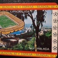Coleccionismo Calendarios: 1 CALENDARIO DE ** MUNDIAL 82 . ESPAÑA SEDE MALAGA ** AÑO 1982 . Lote 180191422