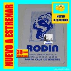Coleccionismo Calendarios: LIBRERÍA RODIN - SANTA CRUZ DE TENERIFE - RARÍSIMO CALENDARIO TIPO FOURNIER DE 1979 - NUEVO. Lote 180210832